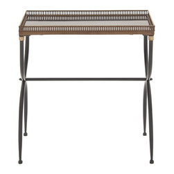 Exceptionally Designed Metal Marble Tray Table - Description: