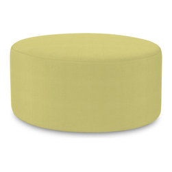 """Howard Elliott - Sterling Willow Universal 36"""" Round Cover - Does your Universal 36"""" Round need an update? Do so by simply getting a new cover. Velcro fasteners and tailored design make it so you would never know this piece is slipcovered. Cleaning and updating is a breeze, change your look on a whim with new covers!. This Sterling Willow piece is 100% polyester finished in a soft burlap willow green color. 36 in. Diameter x 18 in. H"""