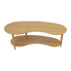 Cherry Pond Fine Furniture - Eaton Coffee Table - Our Eaton Coffee table is slightly funky, but tasteful. They feel good and look better!  This kidney shaped coffee table will dress up your living room.