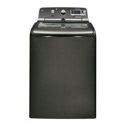GE 5.0 DOE cu. ft. capacity washer with stainless steel basket and steam - Features: