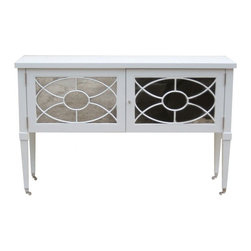 Dining Console by Windsor Smith Home - This lovely sideboard is not just restricted to the dining room. It's mirrored doors with traditional fretwork allow it to fit right into an elegant living room, bedroom, bathroom or entryway.