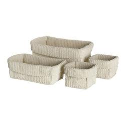 Sigga Heimis - LIDAN Basket, set of 4 - Basket, set of 4, white