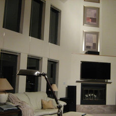 """Built in 55"""" TV above a wood burning fireplace. Pics! - Fireplaces Forum - Garde"""