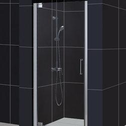 """DreamLine - DreamLine DL-6200C-01CL Elegance Shower Door & Base - DreamLine Elegance Frameless Pivot Shower Door and SlimLine 32"""" by 32"""" Single Threshold Shower Base"""