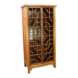 EuroLux Home - Consigned Antique Chinese Display Cabinet Geometrical - Product Details