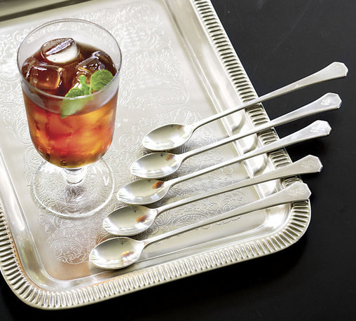Ballard Designs - Fairhope Iced Tea Spoons - Set of 4 - Add single letter monogram for an additional charge. Nickel and silver-plated. Antique silver finish. Dishwasher safe. It took months to get the finish on this heirloom Fairhope Iced Tea Spoon set just right. It has the soft shine and slightly pitted patina of old silver. Made to be used, loved and passed down, each piece is crafted of nicely weighted brass.Fairhope Flatware features:. . . . *Monogramming available for an additional charge.*Allow 3 to 5 days for monogramming plus shipping time.*Please note that personalized items are non-returnable