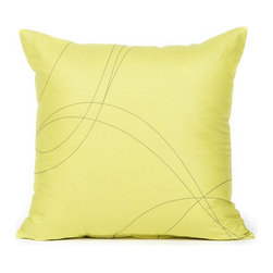 "Blooming Home Decor - Mustard & Taupe Swirl Pattern Pillow Cover - (Available in 16""x16"", 20""x20"")"