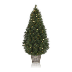 "Balsam Hill - Balsam Hill® Potted White Pine Artificial Christmas Trees (2-Pack) - The two-pack of 3 foot or 4 foot Potted White Pine artificial trees make any doorway look fabulous and elegant. UL® approved indoor/outdoor Clear lights make this pair of trees a dazzling sight at night or during the day. Also included with this tree is a durable and attractive potted base, soft cotton gloves for shaping the tree, storage bags, and extra bulbs and fuses. As the best artificial Christmas tree manufacturer that is the #1 choice for set designers for TV shows such as ""Ellen"" and ""The Today Show"", in addition to being a recipient of the Good Housekeeping Seal of Approval, our trees are backed by a 5-year foliage warranty and a 3-year light warranty. Free shipping when you buy today!"