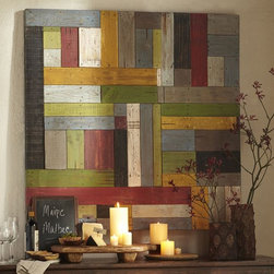 Painted Pieced Woodwork - You could pull so many great colors from this piece!