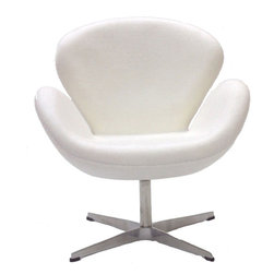 Modway - Wing Lounge Chair in White - Perhaps no chair is more synonymous with organic design than the Wing chair. First intended as an outstretched reception chair, the piece is expansive like the wings of its namesake. While organic living promotes the harmonious balance between human habitation and the natural world, achieving proper balance is a challenge.