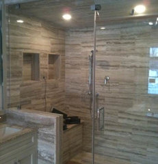 traditional bathroom tile by tyra tile inc