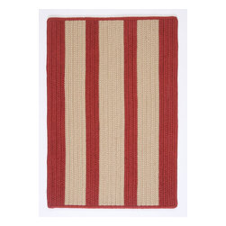Colonial Mills, Inc. - Indoor/Outdoor Boat House, Rust Red Rug, Sample Swatch - These outdoor rugs are so stylish and sophisticated, you'll be tempted to use them indoors. (Go ahead, slip one into the bathroom or porch — no one will tell.) Produced in an old New England mill town from stain-resistant polypropylene, they'll stand up to the elements.