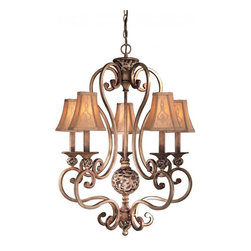 Minka-Lavery - Minka-Lavery Salon Grand 5-Light Chandelier - 1555-477 - This 5-Light Up Chandelier has a Bronze finish and is part of the Salon Grand collection.