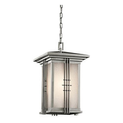 Kichler - Kichler Portman Square 1-Light Stainless Steel Hanging Lantern - 49161SS - This 1-Light Hanging Lantern is part of the Portman Square Collection and has a Stainless Steel Finish. It is Outdoor Capable.