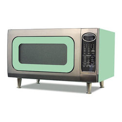 """Big Chill - Modern Microwave Ovens - The Big Chill Jadite Green Retro Microwave has the vintage charm you love with the modern microwave power of today. Stylishly designed to rest on your countertop, the Big Chill Green Retro Microwave combines chrome, green trimming, and the Big Chill color of your choosing for a fresh vintage look. With nine cooking settings, 1200 watts of output power, and a 16"""" turntable, this retro microwave is as modern as it gets, and is a one-of-a-kind addition to any kitchen decor."""