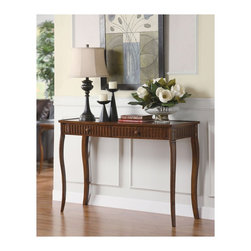 "Coaster - ""Coaster Console Table, Cherry"" - ""Bring elegance into the home with the influence of a Queen Anne style design table.Dimensions (W x L x H): 18.00"""" x 48.00"""" x 32.00""""Finish/Color: CherryAssembly Required: YesMade in China"""