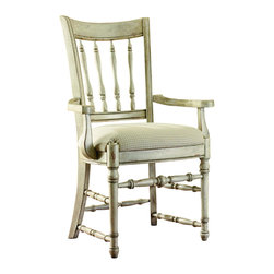 """Hooker Furniture - Hooker Furniture Summerglen Spindle Back Arm Chair - Set of 2 - This casual country dining group is crafted from hardwood solids & cherry veneers and handpainted. Hardwood Solids and Veneers; Hand painted. Dimensions: 25.5""""W x 23""""D x 40""""H."""