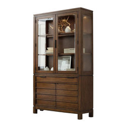Hooker Furniture - Hooker Furniture Chatham One Drawer Two Door Bunching China Cabinet - Hooker Furniture - China Cabinets - 10437690376904KIT - Horizontal lines and molding and straight cases give a modern yet down-to-earth feel to Chatham.