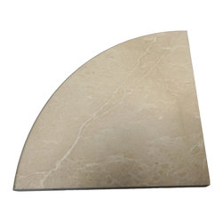 SCABOS TILE - Bottichino Marble Polished Corner Shelf - Size: 9''x9''