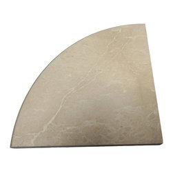 SCABOS TILE - Bottichino Marble Polished Corner Shelf - Size: 9''x9''