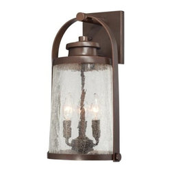 Minka-Lavery - Minka-Lavery Travessa 3-Light Outdoor Wall Mount - 72332-291 - This 3-Light Wall Lantern has a Bronze Finish and is part of the Travessa Collection.