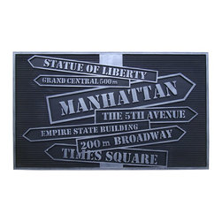 """A1 Home Collections - """"New York"""" Multi-Utility Mat. - This stylish doormat makes a perfect addition to any porch,patio area or door. Use this mat to catch dirt or as decoration."""