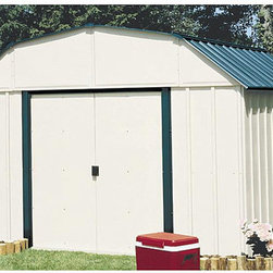 Arrow Sheds - Arrow Sheridan Vinyl-coated Steel Shed - This durable steel Sheridan shed with vinyl coating is five times thicker than normal steel finishes. The attractive barn-roof design of this arrow shed makes a great fit in any space.