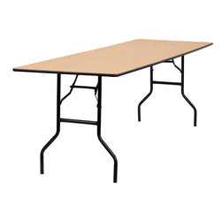 Flash Furniture - Flash Furniture 30 Inch x 96 Inch Rectangular Wood Folding Banquet Table - This wood folding table is very useful since it can be instantly stored and is easy to carry at the same time. This durable table was built for constant use in hotels, banquet rooms, training rooms and seminar settings. Not only is this table durable enough for the everyday rigors of commercial use this table can be used in the home when it comes to setting up your own personal party plans. [YT-WTFT30X96-TBL-GG]