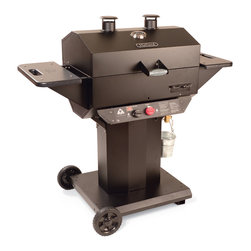 Holland - Holland Propane Gas Vintage Grill - The newest member of The Holland Grill Family - The Vintage - is built solid and sturdy and with the same great cooking performance as all of our grills. Based on the design of one of our most popular grill models - The Tradition - The Vintage offers much improved sturdiness and stability. Two large wheels make moving the grill a cinch. Our new access panel makes it simple to access the burner for cleaning and as always, you'll love the way the food turns out. Includes: