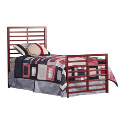 Hillsdale - Hillsdale Latimore Twin Bed Set in Red - Hillsdale - Headboards - 1737BTWR - Our Latimore Bed offers chic modern style in an affordable package. Available in charcoal black glossy red metallic silver or white. The ladder-back inspired bed or headboard bring a contemporary visual statement to the bedroom. The Latimore is available in all finishes in twin and  full queen and king sizes in charcoal black only.
