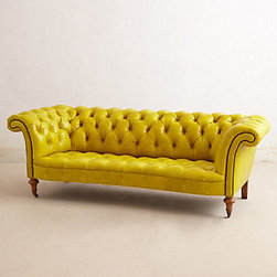 Citrine Chesterfield Sofa - A citron sofa is so delicious.