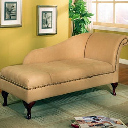 Stylish Seating - Cream Microfiber Chaise