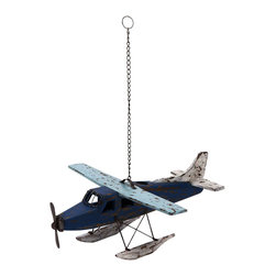 ecWorld - Weathered Wooden Replica Handcrafted Model Airplane - Antique Blue - Admire the detail of this faithful airplane replica. Handcrafted in wood by unique artisans, this is a gorgeous work of art and a tribute to aviation history. Will make a stunning addition to any room decor.