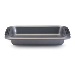 Anolon - Anolon Advanced 9 x 13 Inch Nonstick Cake Pan - Dont be fooled by its name as this pan can be used for not only baking birthday cakes and decadent brownies, but for baking casseroles, roasting vegetables and more. The durable nonstick coating allow your homemade creations slide right out of the pan. - Weight: 2.2 lbs.
