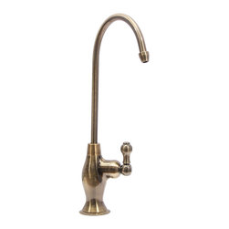 Dyconn Faucet - Dyconn Faucet Drinking Water Faucet for RO Filtration System, Brass - Solid Brass Construction and Available in Polished Chrome, Brass and Brushed Nickel