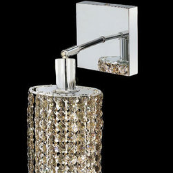Elegant Lighting - Mini Ellipse Chrome One-Light Bath Fixture with Royal Cut Golden Teak Smoky Crys - Royal Cut crystal is a combination of high quality lead free machine cut and machine polished crystals and full-lead machined-cut crystals to meet a desirable showmanship of an authentic crystal light fixture.  -Recommended to be professionally hung and supported independently of the outlet box. Consult an electrician for guidance to determine the correct hanging procedure.  -Crystals may ship separately and some assembly is required.  -Depending on the size & design the assembly can be time consuming, but is well worth the effort. Elegant Lighting - 1281W-S-E-GT/RC