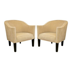 Montage Furniture Collection - Originally designed in 1913 for the Austrian Gallia family by Josef Hoffman, this iconic design needs no introduction. These club chairs have been custom re-upholstered in a rich Travertine tone Velvet. Come see at Montage Modern!
