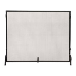 Uniflame - Uniflame S-1127 Single Panel Black Wrought Iron Sparkguard - Medium - Single Panel Black Wrought Iron Sparkguard - Medium belongs to Fireplace Accessories Collection by Uniflame