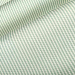 Cape Cod Poplin Stripe Fabric in Aqua - Cape Cod Poplin Stripe Fabric in Aqua is a 100% cotton fabric with a medium duty weight that works well for drapery or upholstery applications. This beachy fabric adds a playful element to interior designs. Made in the United Kingdom. Repeat: 1/4″ H; Width: 54″