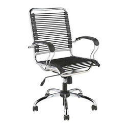 Eurostyle - Eurostyle Bungie J-Arm Office Chair w/ Extra Strong Bungie Cords - J-Arm Office Chair w/ Extra Strong Bungie Cords belongs to Bungie Collection by Eurostyle If you didn't know, in design speak, Bungie means ��_��_��_this is so comfortable I never want to stand up!' The J-Arm takes this concept to the extreme in strength and comfort. The way the cords support your legs is almost decadent. Office Chair (1)