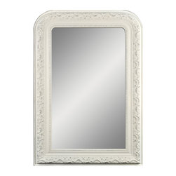 "Enchante Accessories Inc - Framed Wall Mirror 25.5"" x 37"" (Shabby White) - Polystyrene Framed Wall MirrorDecorative design with a weathered finish for a vintage lookPerfect Foyer MirrorVersatile design that can be hung in any hallway, living room, bedroom, or entrywayMeasures 25.5 in. x 37 in.Mirrors not only reflect your image, but they reflect your style.  The types of mirrors you choose to hang in your home not only provide function, but act as a great accent piece that shows your sense of style apart and reflects your taste.  Made from durable wood and accented with distressed finishes, beveled edges, and weathered details that give them a rustic, vintage look, these mirrors add beauty to any wall in any room of the house.  Perfect for use in an entry way, a hallway, a dining room, a living room, or a bedroom, these rustic mirrors have that vintage inspired French country look that adds instant charm and casual comfort to any home. For a unique look and an interesting display, hang mirrors of different sizes, shapes, and colors on the same wall.  Mirrors help to add texture and dimension and create the illusion of a larger space.  By hanging multiple mirrors in a small space, you can create interest and increase the perceived size and feel of the space around you.  Available in both rectangular shapes and rectangular shaped frames with oval mirrors in the center, these rustic wood mirrors come in a variety of color finishes that have a neutral appeal and can be easily coordinated with any type of rustic furniture or shabby chic room decor. With the look and feel of a treasured family heirloom, these mirrors are aged and weathered to give them a vintage look and evoke a sense of old fashioned spirit.  Reminiscent of something you may have once seen in a charming country cottage, these wooden mirrors let you check out your own reflection as well as reflect the beautiful room around you.  The antique look makes them the perfect addition to any casual space while the clean mirrored glass provides the function that aged and worn mirrors often cannot."
