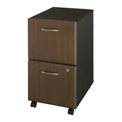 "BBF - BBF Series A 2-Drawer Mobile Pedestal (Assembled) - BBF - Filing Cabinets - WC25552SU - Mobile convenience puts your files at your fingertips with the BBF Series A Mobile Pedestal (F/F). This versatile storage component rolls easily under all Series A 36"" 48"" 60"" and 72"" Desks for added storage with dual-wheel hooded casters (two swivel and two locking). The exterior case finish matches Series A Desking and Hutches to create a unified look. Two file drawers accommodate letter legal and A4 size files utilizing full-extension ball bearing slides for complete drawer access. A single lock secures both drawers for privacy. Solid construction meets ANSI/BIFMA test standards in place at time of manufacture; this product is American Made and is backed by BBF 10-Year Warranty."
