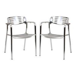 Ohio Dining Chairs Set of 2 - The unique appearance of the Ohio Outdoor Accent Chair spurs the imaginative faculties into full gear. Containing a vision of the future already in the present; the time continuum is virtually one extension. Embody intangible wisps of thoughts into an inexhaustible fountain of creative momentum.
