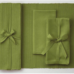 "Origin Crafts - Vineyard solid napkins set of 4 - Vineyard Solid Napkins Set of 4 Napkins and Placemats sold separately. Sets of four tied together w/matching twill tape. 100% cotton. machine wash cold water; tumble dry low. Dimensions: Napkins - 20"" x 20"" Placemats - 14.5"" x 19"" By Tag Ltd. - Tag Ltd. is a supplier of decorative accessories. Ships"