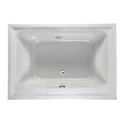"""American Standard - American Standard 2748.002.020 White Town Square Town Square 59-1/2"""" - Product Features:Fully covered under a lifetime warranty; including free lifetime in-home serviceManufactured and assembled in the United States of AmericaSoaking tub; basic and easy to installDrop-in installation; tub is dropped into a pre-cut deck or islandConstructed of ultra-durable fiberglass-reinforced acrylicSurfaced with the industry s best stain-blocking high-gloss finishTub proportions and contour designed by industry leading ergonomics engineersSlip-resistant flooring - textured finishing technique appliedSelf-leveling base structural support cuts installation time and costsTub waste (drain) is not included - this will be presented upon adding to cart, with multiple available finishesTechnologies / Benefits:Lifetime Warranty with In-Home Service: This tub is covered under the industryÂ's only Limited Lifetime Warranty with free lifetime in-home service. This speaks volumes to the quality of American Standard tubs.Self-Leveling Base: A major time-saver during installation, this tubÂ's self-leveling base eliminates the need to fret over a perfectly level base structural supportÂ… high-density compressible pads do the work for you, compensating for any imperfections. DIYÂ'ers and contractors both appreciate this feature.Premium Acrylic: Luxury American Standard tubs all use premium acrylic for a reason: it retains a glossy finish, is flexible (will never chip, crack or craze), easy to clean, and far lighter (and easier to install) than cast iron. Premium Acrylic means that it is reinforced with a fiberglass composite for maximum strength.Product Specifications:Overall Length: 59-1/2"""" (head-to-toe measurement when lying inside the tub)Overall Width: 41-5/8"""" (shoulder-to-shoulder measurement wh"""