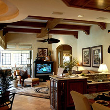 Mediterranean Family Room by Speir Faux Finishes, Inc.