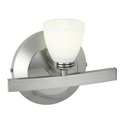 Access Lighting - Access Lighting Sydney 1-lt Wall/Vanity - Contemporary 1-lt wall/vanity in mat chrome finish. Available with opal glass.Close out prices. While supplies last