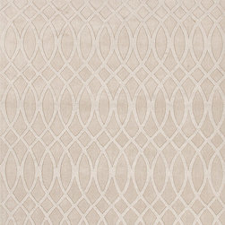 Jaipur Rugs - Solid Pattern Ivory /White Wool Woven Rug - MT03, 5x8 - This collections offers simple modern geometrics in all the fashion colors. Hand loomed in 100% wool each rug make a bold solid color statement to complement contemporary interiors. The pattern and texture is created through a high/low loop and pile construction.