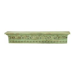 Benzara - Medieval Style Free Hanging Corbel Shelf - Medieval style free hanging corbel shelf . A marvelous free hanging shelf that works every bit as beautiful as a piece of decor as it is a working shelf.