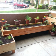 "Photo by Sultana Saritas - Here is a ""tetris"" style patio planter design that my"